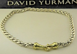 David Yurman 6mm Wheat Chain Necklace in Sterling Silver & 14K Yellow Gold - $794.79