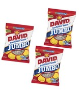 Roased & Salted JUMBO 3 Pack 16 OZ David's SUNFLOWER SEEDS Baseball Nuts... - $34.49