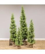 Rustic Skinny Long Needle Pine Tree w/Burlap Base Holiday  - $70.00+
