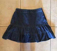 Gap Denim Ruffled Mini Skirt Size 6 Dark Wash - $14.99