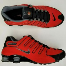 Nike Shox NZ Running Shoes Size 11 Mens Athletic Red Black RARE - $112.19