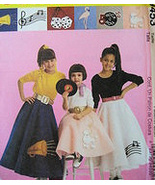 McCalls 9453  Costume 50s Girls 14  Poodle Skirt  Petticoat - $5.95