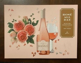 GALISON Rose All Day 2-in-1 Shaped Jigsaw Puzzle Set Roses and Wine NICE! - $12.77
