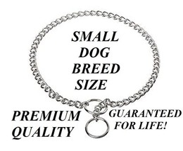 "PREMIUM XS EXTRA-SMALL DOG CHOKE Chain Collar 12"" Puppy Toy Breed Traini... - $15.40"