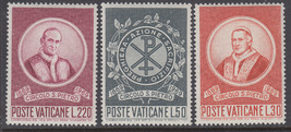 Circle of St Peter Set of 3 Vatican Postage Stamps Catalog Number 476-78 MNH
