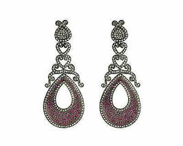Estate 2.61Ctw Rose Cut Diamond Vintage Style Wedding Silver Deco Earrings fS245 - $539.39
