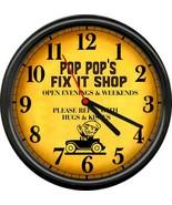 Pop Pop's Repair Fix It Shop Garage Repair Auto Garage Retro Sign Wall C... - $21.12