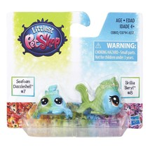LITTLEST PET SHOP Seafoam Dazzleshell CRAB Brillia Beryl FISH Toy Figure... - $4.18