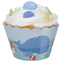 Under the Sea Pals 12 Paper Cupcake Wrap Baby Shower 1st Birthday - $2.96