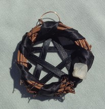 Mini Grapevine Pentagram Wreath Ornament  - Wiccan & Pagan Sabbat Decor - $9.99