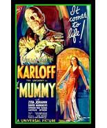 "4.5"" Classic The MUMMY vinyl sticker. Boris Karloff movie monster decal. - $2.92"