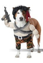 California Costumes Action Hero Rambo Pets Dogs Halloween Costume PET20156 - £18.97 GBP