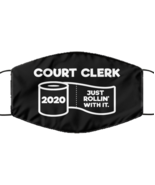 Funny Court clerk Black Face Mask, Just Rollin' With It, Unique Christma... - £12.25 GBP