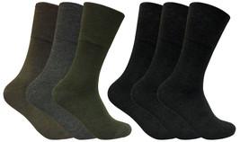 Mens 3 Pack Thin Wide Loose Top Non Binding Elastic Warm Thermal Diabetic Socks - $9.99