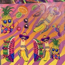S251  MINTLisa Frank Fabulous Fruit Pineapple Watermelon Banana Sticker image 2
