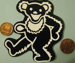 Hand made Decal sticker Black and white Teddy Bear - $19.98