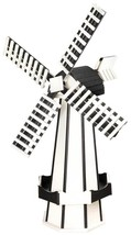 "60"" POLY WINDMILL - White & Black Working NY YANKEES Weather Vane Amish ... - £302.28 GBP"