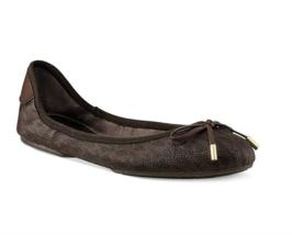 Michael Michael Kors City Logo Ballet Flats Shoes Brown - $89.99