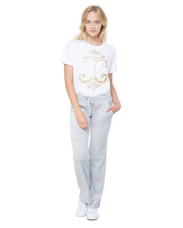 NWT INTIMO Woman Pajama Set Ruffle Shirt Pants Pink Gray Soft Relax Fit S-XL