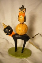 Bethany Lowe Kitten Around Owl & Pumpkin Last one! image 1