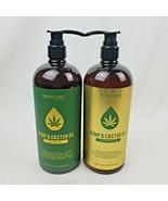 Manlore By SJ Creations Hemp & Castor Oil Shampoo + Conditioner Set 32oz... - $59.95