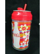 Coca-Cola 12 oz Water Bottle Igloo Cool Gear Double-Wall Flower Multi Color - $3.71