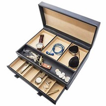 Stock Your Home Luxury Mens Dresser Valet Organizer for Watches, Jewelry... - $27.64