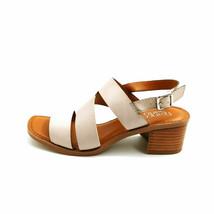 Franco Sarto Womens Lilah Leather Asymmetrical Strap Sandals Light Grey 7M  - $34.64