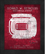 "Arkansas Razorbacks ""Retro"" Stadium Seating Chart 13 x 16 Framed Print  - $39.95"