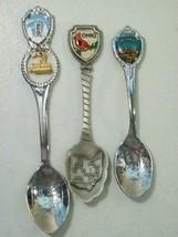 Lot Of 3 Ohio Silver Tone Pewter Souvenir Spoons Cincinnati Cardinal Boat Charm - $14.65