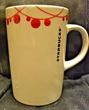 Starbucks Coffee Mug 2012 White with Red Decoration - EUC - $7.91