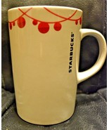 Starbucks Coffee Mug 2012 White with Red Decoration - EUC - $7.91