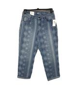 Style & Co Womens SZ 10 Boyfriend Jeans Curvy Fit Floral Stretch Mid-Ris... - $24.72