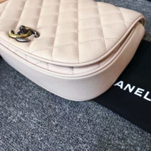 AUTHENTIC CHANEL 2017 PINK QUILTED CAVIAR 2 WAY FLAP BAG NEW image 7