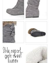 Women's Designer Style Warm Fur Lined Winter Fashion Boots image 6