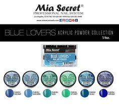 Mia Secret BLUE LOVERS Nail Art Powder 1/4 oz 1 OR 6 Colors - $6.92+