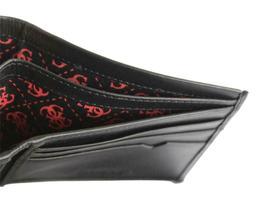 Guess Men's Premium Leather Double Billfold Credit Card Wallet Black 31GU13X030 image 6