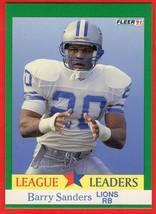 1991 Fleer #415 Barry Sanders HOF football card - $0.01