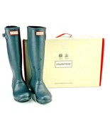 Hunter Womens Comfort Round Toe Original Tall Rain Boots Black Size US 6... - $64.34
