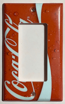 Coke Coca Cola Logo Light Switch Power Outlet wall Cover Plate Home decor image 3
