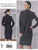 Vogue 1465 Donna Karan Knit Jacket, Pencil Skirt, Top Pattern Size 6-14 UC - $16.71
