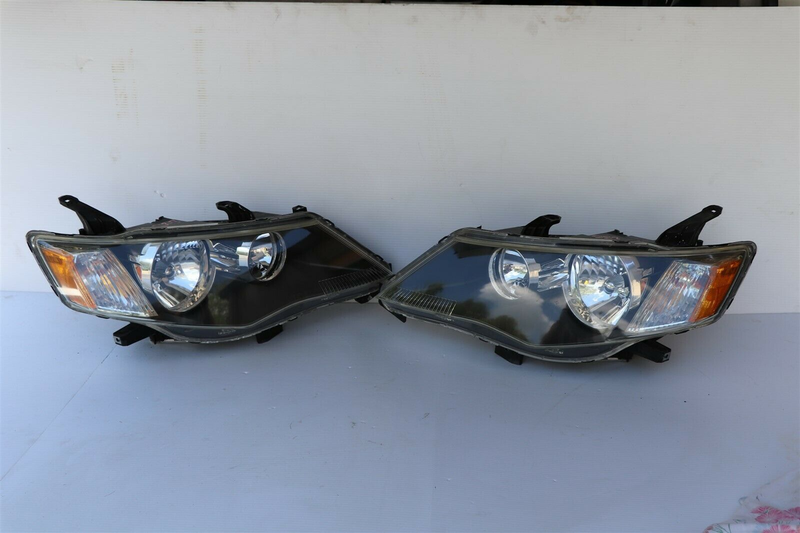 07-09 Mitsubishi Outlander HID Xenon Headlights Set L&R - POLISHED