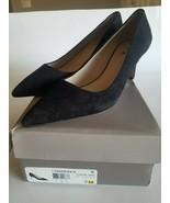 Franco Sarto Women's L-Tudor Pump, Black Suede, 9 M US - $43.56