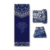 Hindu Mandala Elephant Yoga Mat Indian God Lord Hinduism Animal Towel Ru... - $39.89