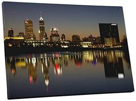 "Pingo World 0726QYF0B9A ""Indianapolis Night Skyline"" Gallery Wrapped Can... - $138.55"