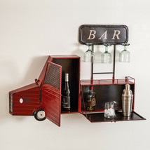 Unique Country Farmhouse Hanging Wall Truck Wine Bar And Glass Holder Me... - €226,50 EUR