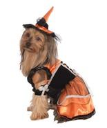 Rubie's Pet Costume, Medium, Orange Witch Dress and Hat - $23.92
