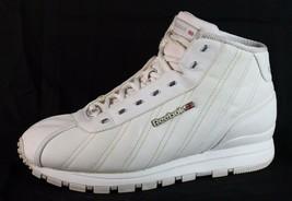 Reebok Klassisch Damen Schuhe Sneaker Hi Top Weiß Schnürsenkel England S... - $34.42