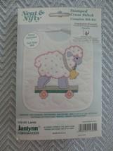 2 JANLYNN Neat & Nifty Stamped Cross Stitch COMPLETE BIB KITS -  #143-05... - $16.00