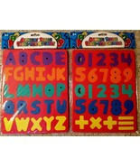 Educational New 2 Foam Puzzles Learn 123s ABCs Letters Numbers Alphabet Red - $11.83